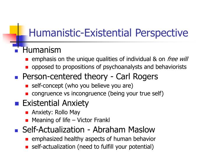 PPT - Personality Some Definitions PowerPoint Presentation - ID318559 - humanistic existential perspective