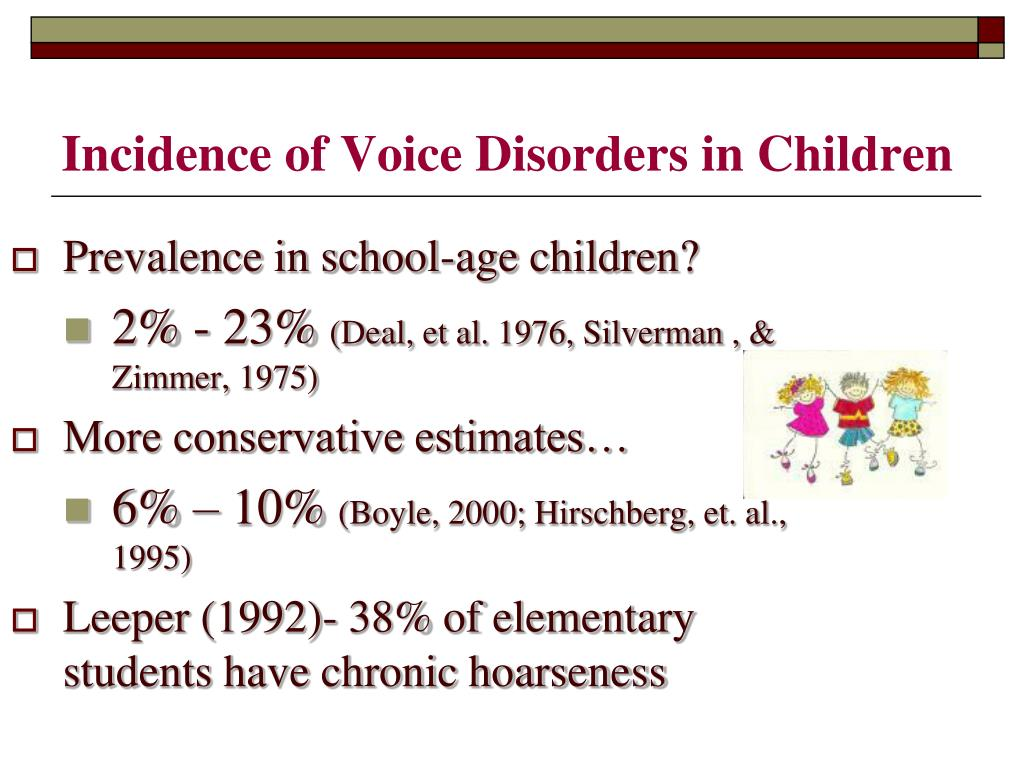 Prevalence Language Disorders Ppt Voice Therapy For Elementary School Age Children