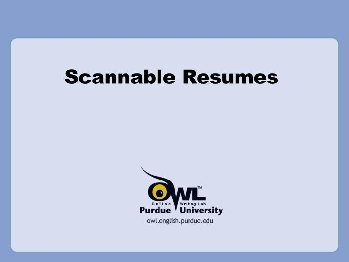 PPT - Scannable Resumes PowerPoint Presentation - ID351812
