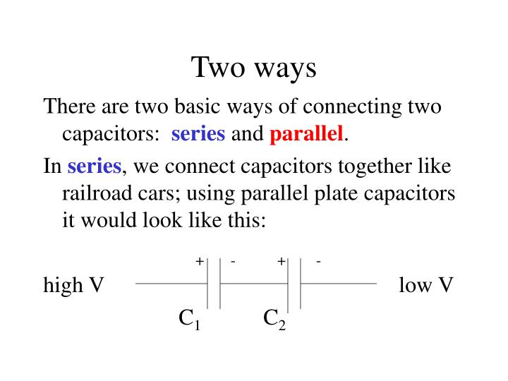 PPT - Hooking Capacitors Together PowerPoint Presentation - ID377295