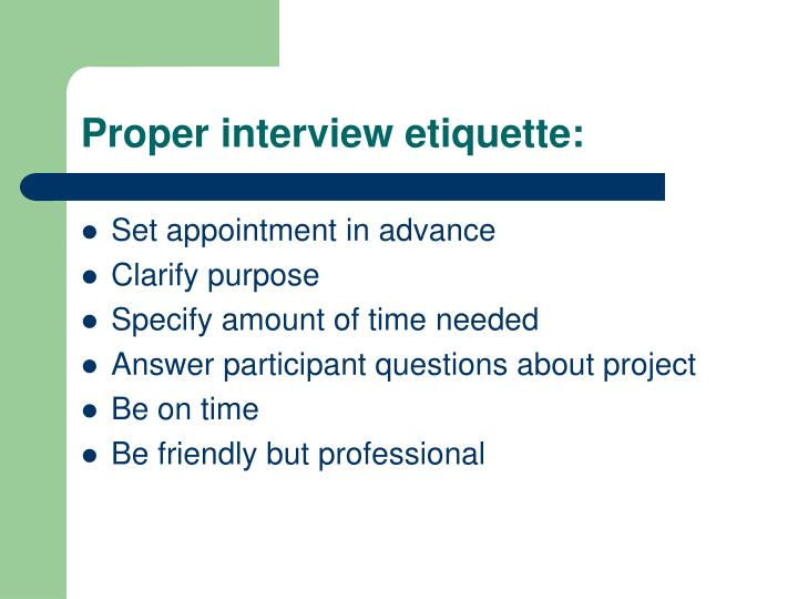 PPT - Interviewing Principles and Guidelines PowerPoint Presentation