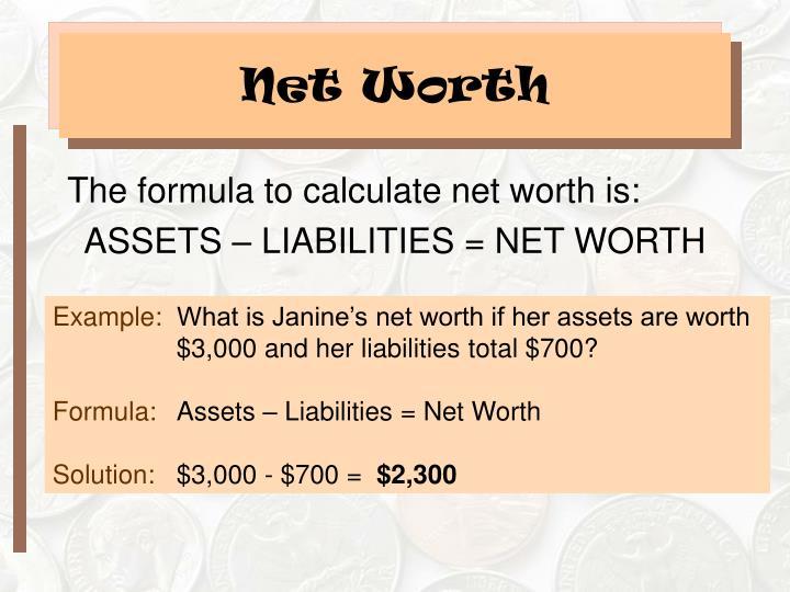 PPT - Money Management Strategy PowerPoint Presentation - ID39675 - assets liabilities net worth