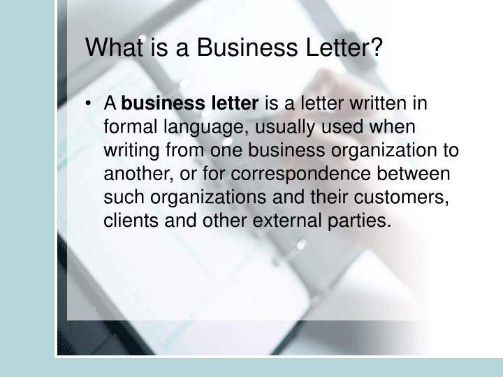 PPT - The Business Letter PowerPoint Presentation - ID419193
