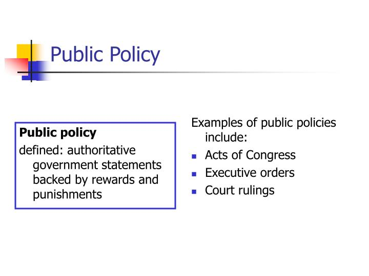 PPT - Public Policy PowerPoint Presentation - ID438283
