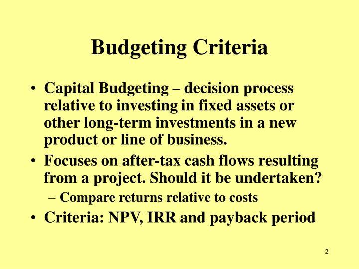 PPT - Chap 9 u2013 Capital Budgeting PowerPoint Presentation