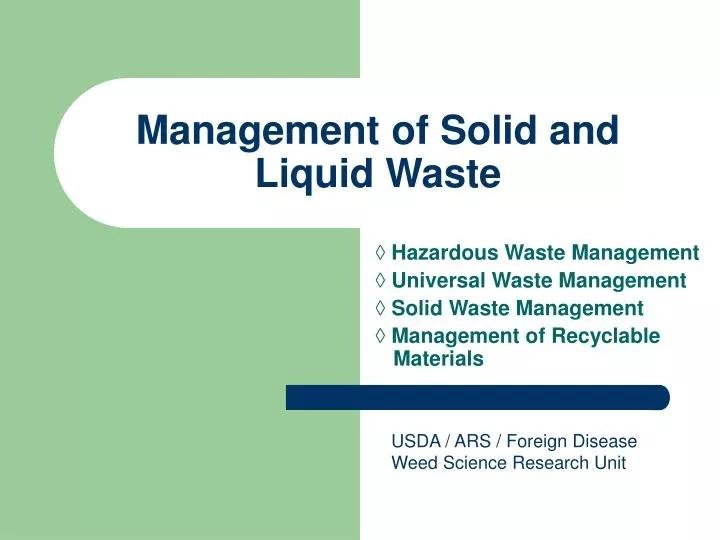 Solid waste management ppt downloads - waste management ppt