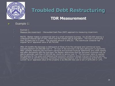 PPT - Troubled Debt Restructuring Teleconference San Francisco Region February 28, 2012 ...