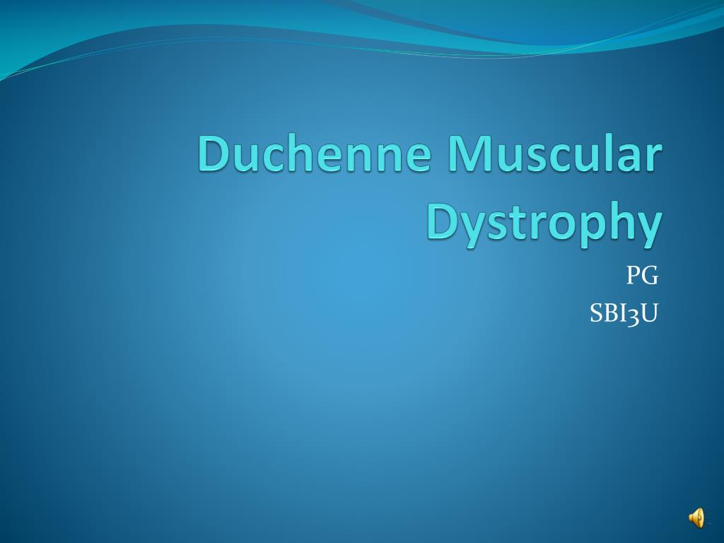 Duchenne Muscular Dystrophy Nih Ppt Duchenne Muscular Dystrophy Powerpoint Presentation Id 575812