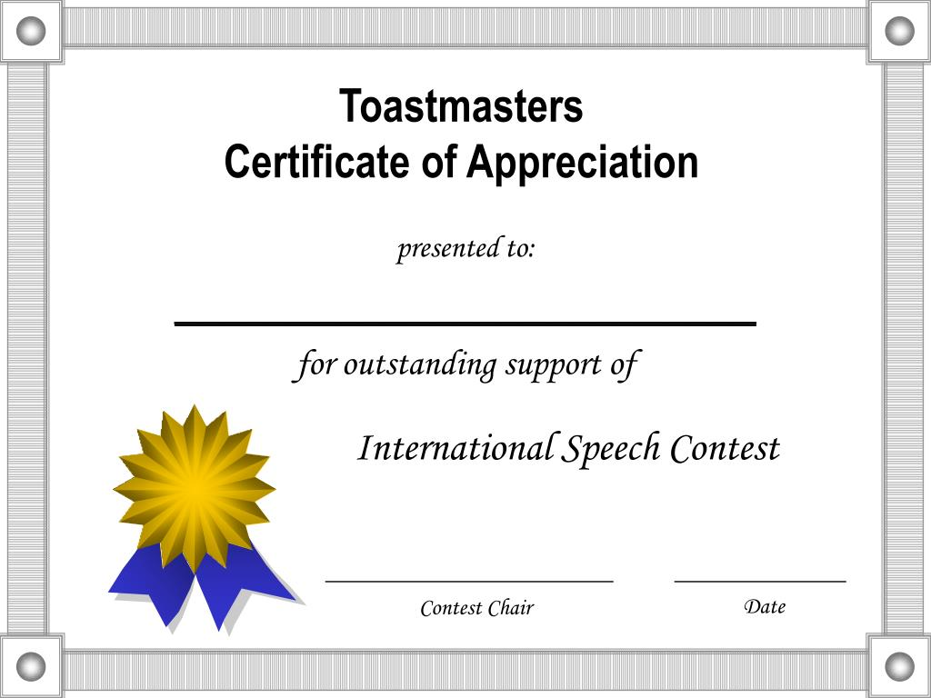 Toastmasters certificate of appreciation template choice image certificate of authenticity autograph template blank fax cover toastmasters certificate of appreciation template gallery toastmasters certificate xflitez Choice Image