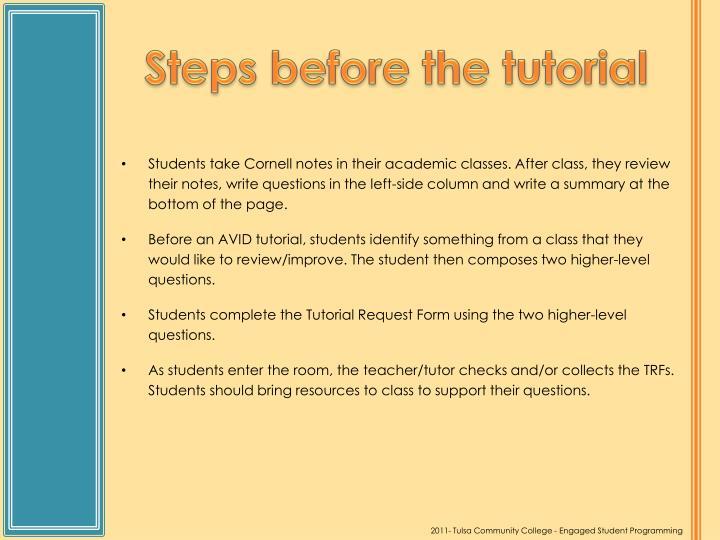 PPT - AVID Tutorial Process PowerPoint Presentation - ID614597