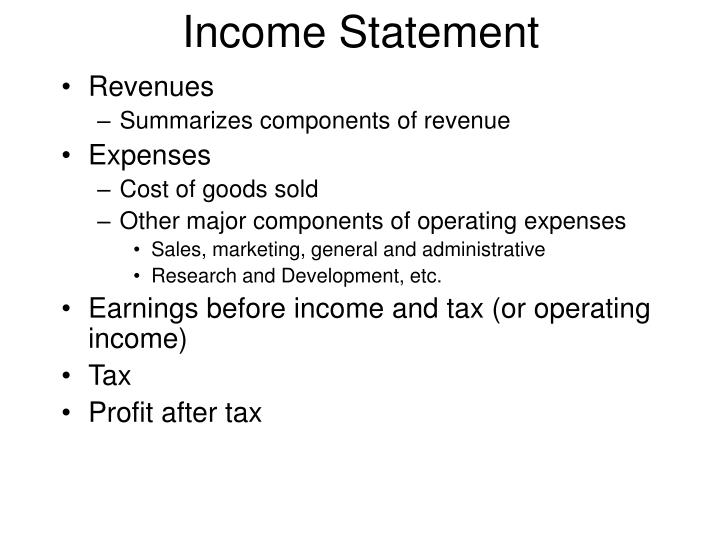 PPT - What is an Income Statement? PowerPoint Presentation - ID638436 - components of income statement