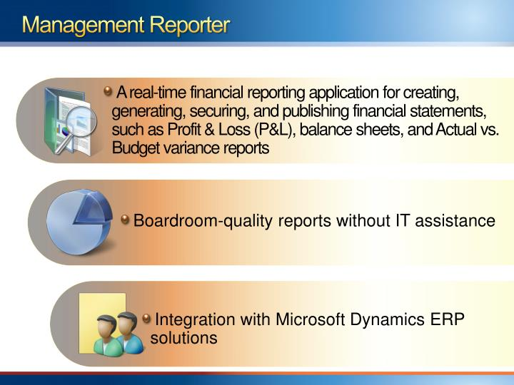 PPT - Management Reporter The next generation of financial reporting