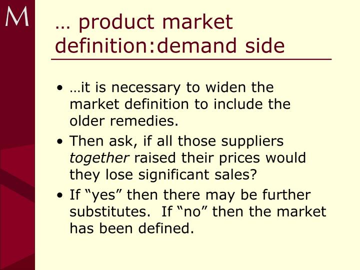PPT - Abuse of Dominance Relevant markets and market power