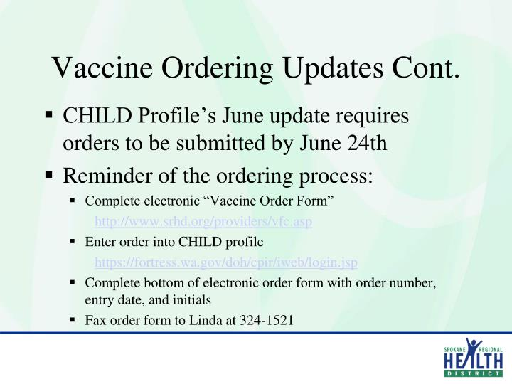 PPT - Vaccine for Children (VFC) 2011 Provider Agreement Training