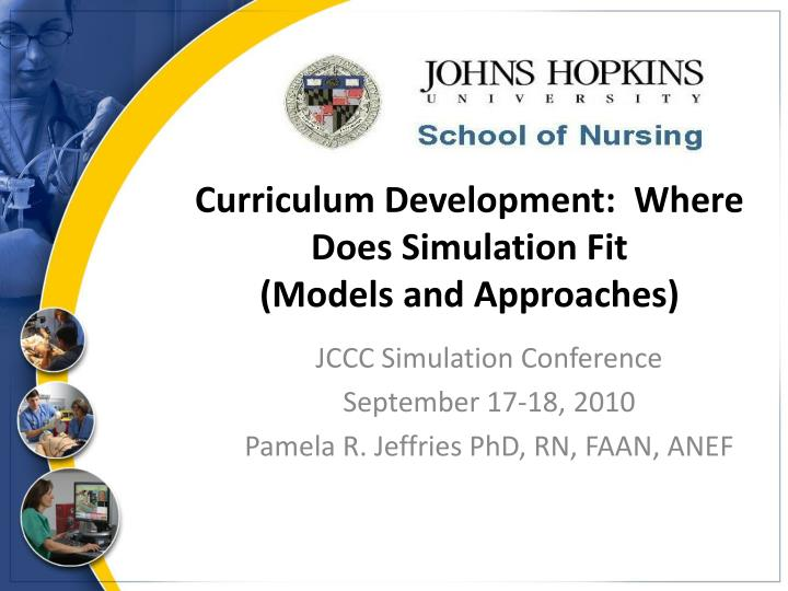 PPT - Curriculum Development Where Does Simulation Fit (Models and