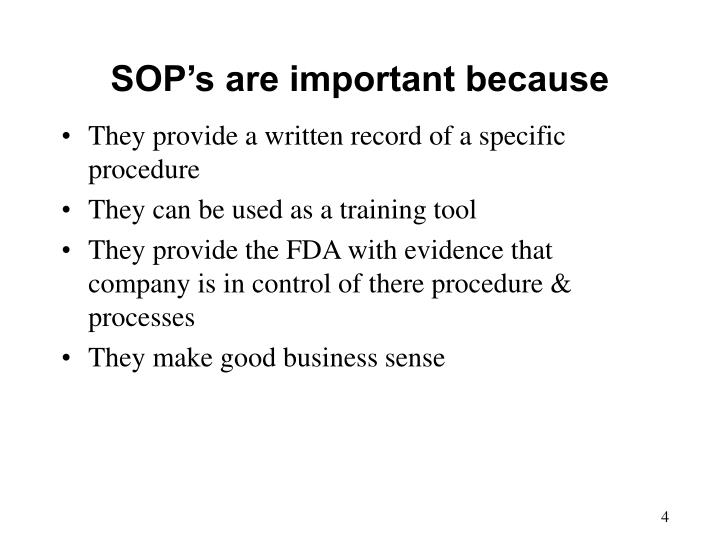 PPT - Standard Operating Procedure PowerPoint Presentation - ID730434 - why sop is used