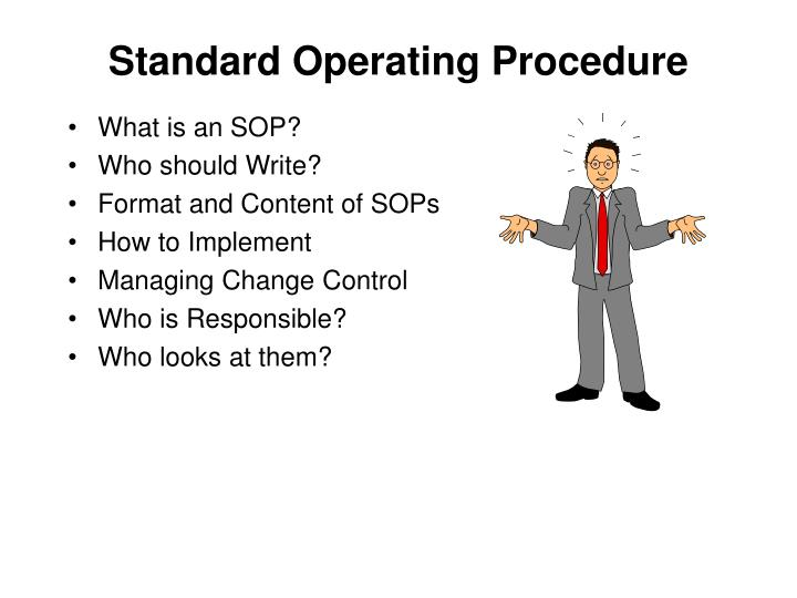 PPT - Standard Operating Procedure PowerPoint Presentation - ID730434