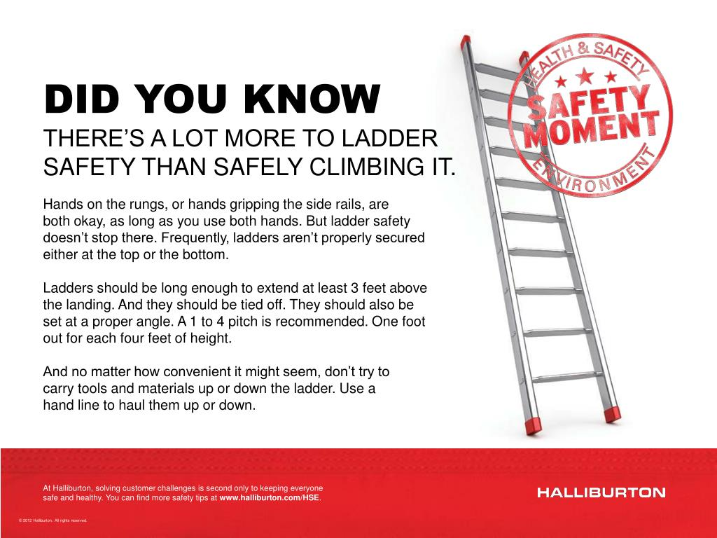 Ladder Safety Ppt Uk Image Collections Norahbennettcom 2018
