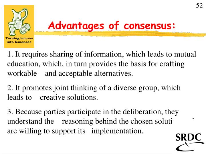 PPT - Advantages of consensus PowerPoint Presentation - ID807756 - mutual consensus