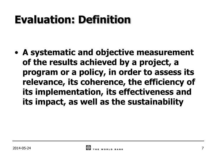 PPT - Module 2 \u2013 Monitoring and Evaluation Definitions PowerPoint