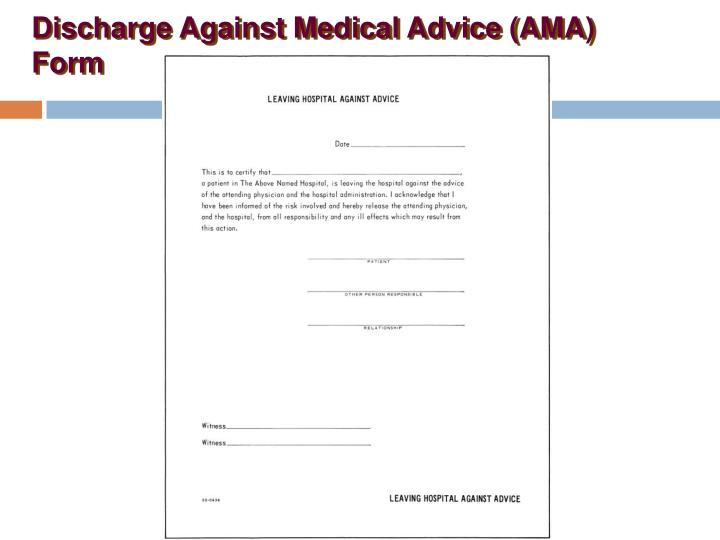 against medical advice form durable power of attorney