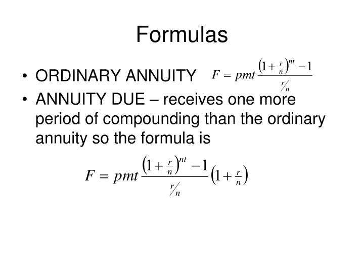 PPT - Annuities PowerPoint Presentation - ID872702 - annuity equation