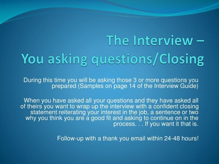 PPT - Interview Preparation Workshop PowerPoint Presentation - ID873813