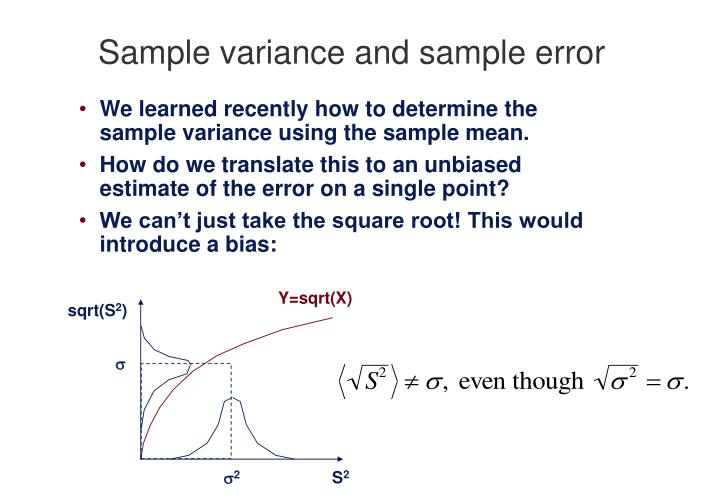 PPT - Sample variance and sample error PowerPoint Presentation - ID