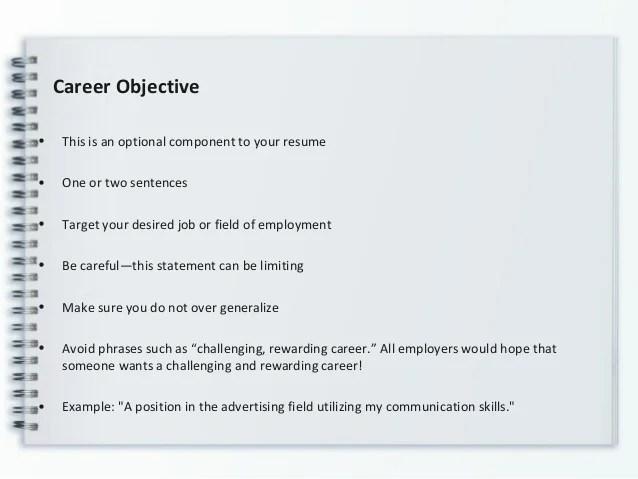 one slide resume example