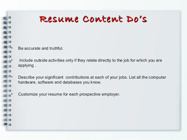 what is resumes - Hacisaecsa