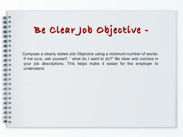 Resume Objective Statement Vs Executive Summary – Impressive Objective for Resume