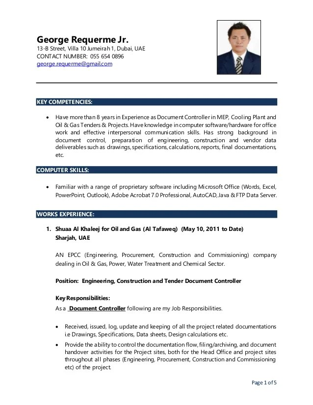 documents controller cv - Narcopenantly