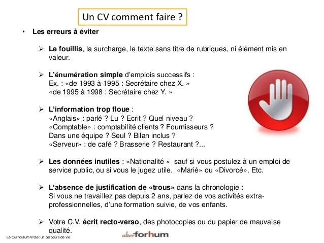 comment faire un cv de serveur simple