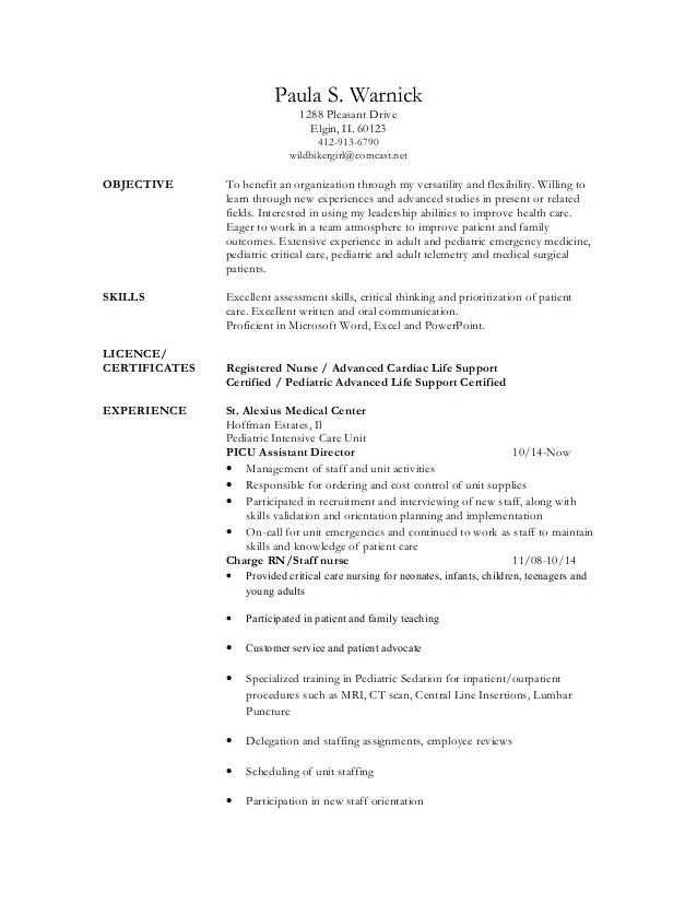 Picu Rn Resume Examples - Resume Examples | Resume Template