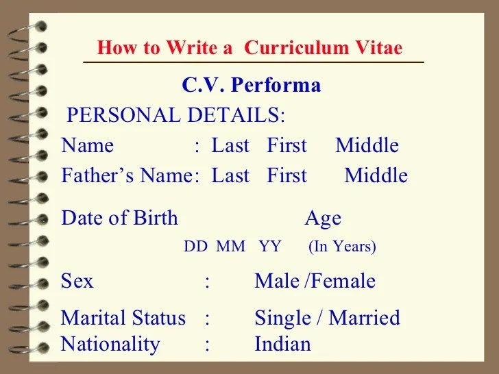 How To Write A Cv Or Curriculum Vitae With Free Sample Cv 02 Ppt How To Make A Cv Full