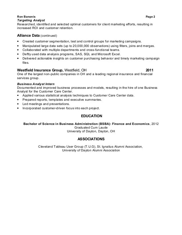 database analyst resume - Goalgoodwinmetals - Marketing Database Analyst Sample Resume