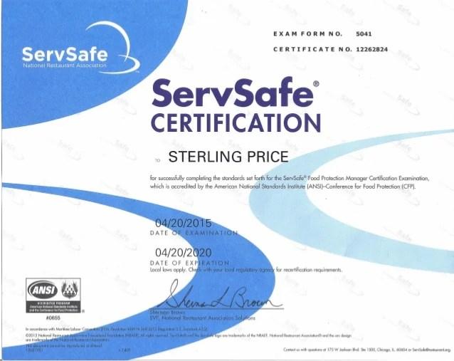 servsafe food safety manager certification | Foodstutorial.org