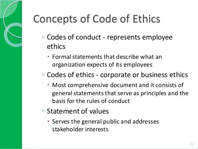 Sample essay code ethics