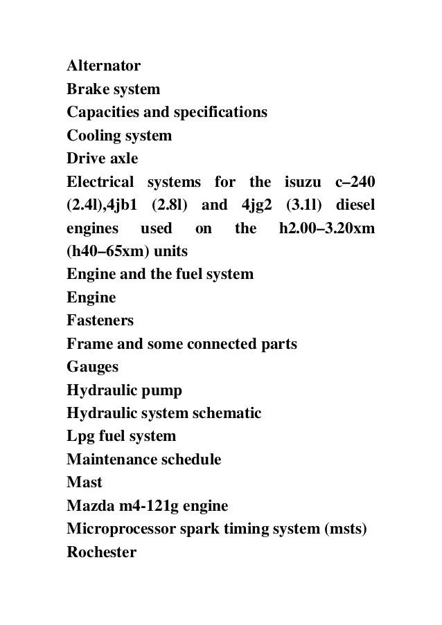 hyster c177 h2 00xl h2 50xl h3 00xl europe forklift service repair factory manual instant download