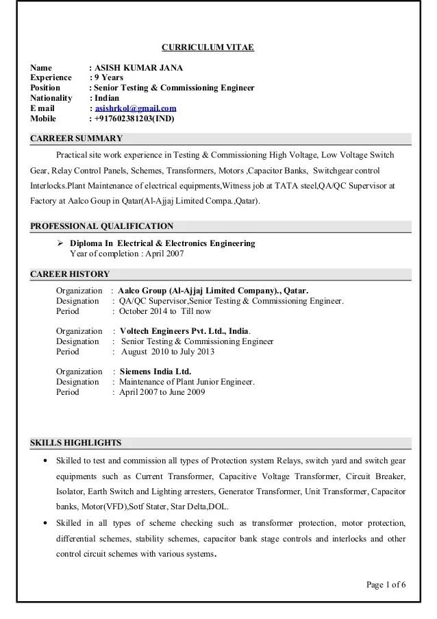 Hvac Commissioning Engineer Sample Resume Professional Mechanical - mechanical commissioning engineer sample resume