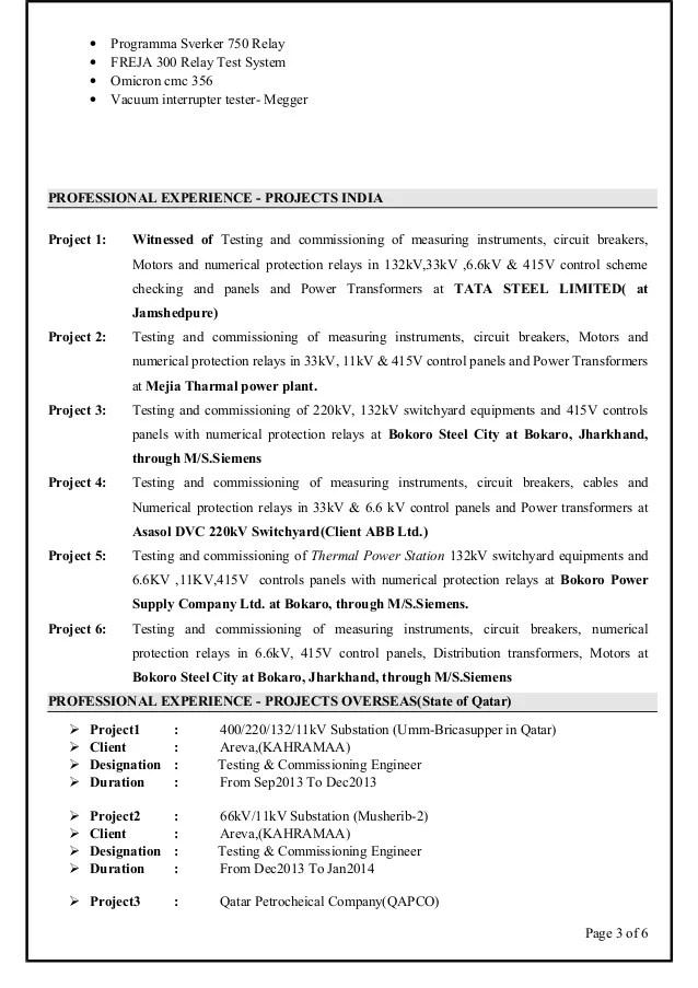electrical engineer maintenance resume - Onwebioinnovate
