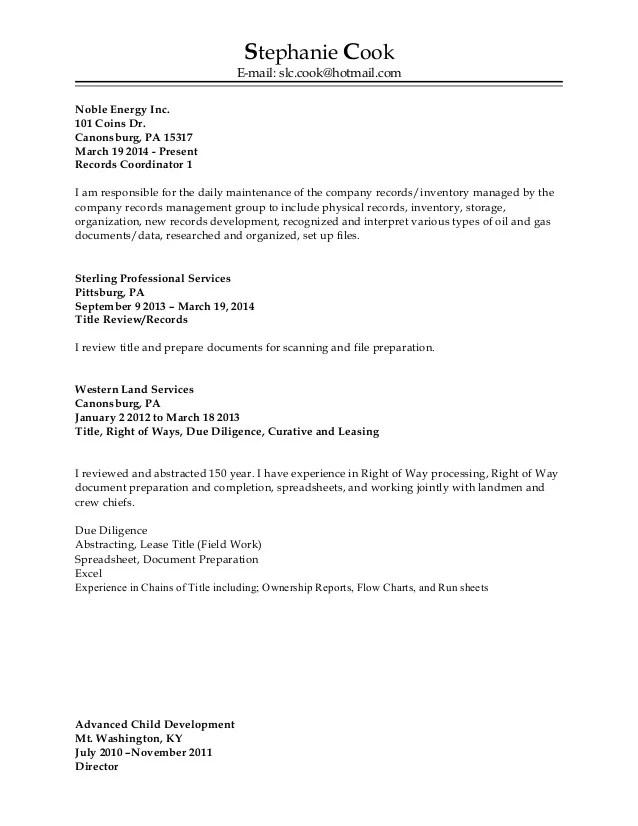 resume work address