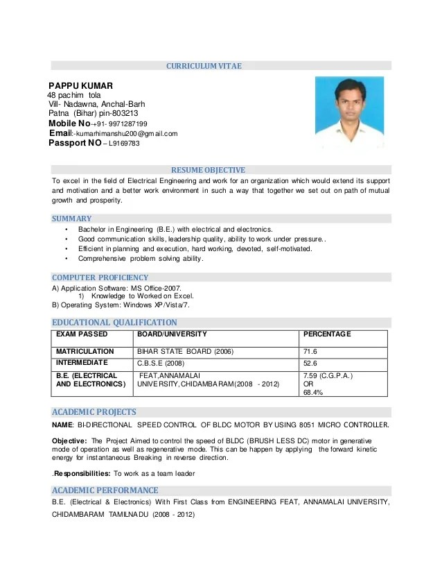 resume for electrical engineering - Selol-ink - Resume Electrical Engineer