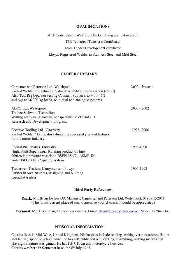 Resume Format Of Teacher Resume Objective Teacher Resume Objective Welder Fabricator Cv