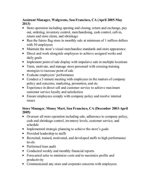resume folder walgreens