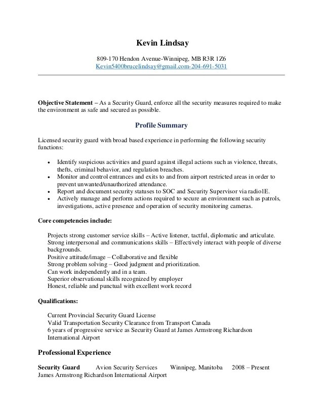 Security Officer Resume Examples And Samples security officer