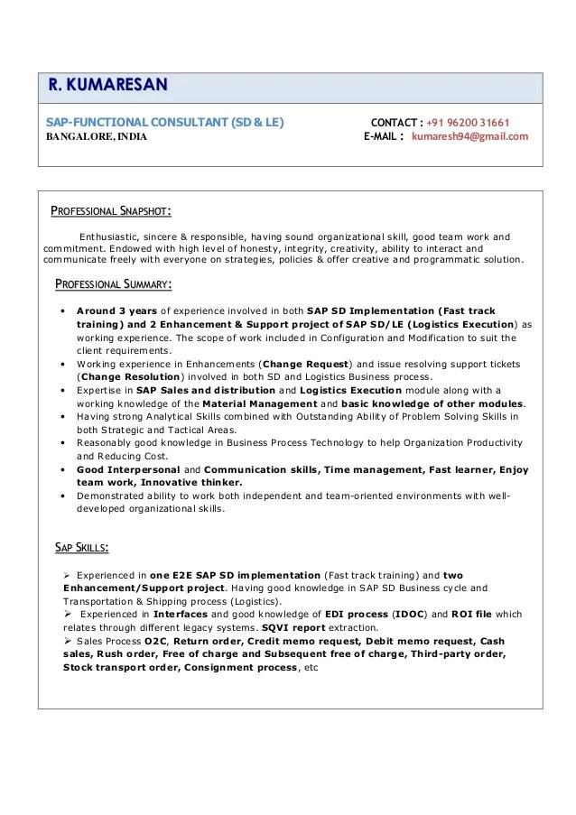 resume consultant bangalore