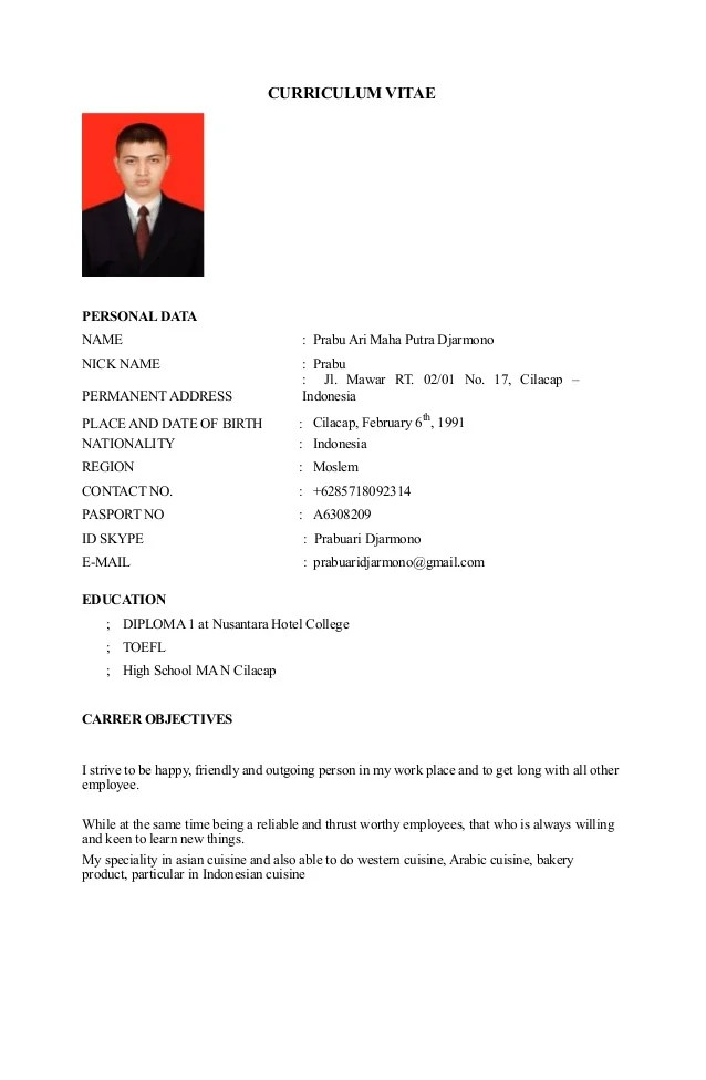 objectives in curriculum vitae
