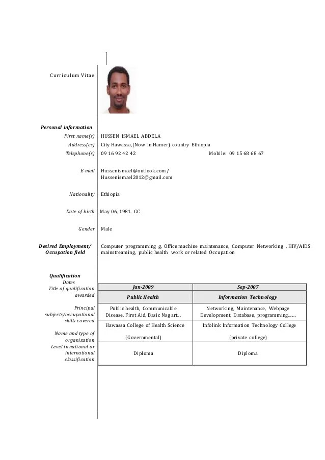 career change cv
