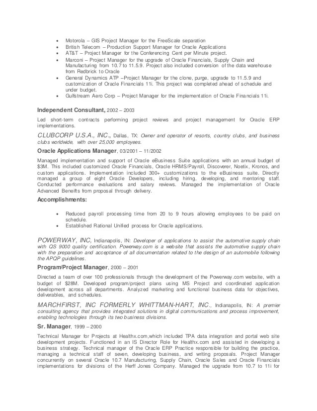 sap upgrade project manager resume professional resumes example